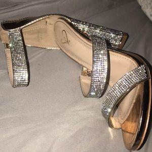 Windsor Shoes - Size 6.5 silver heels